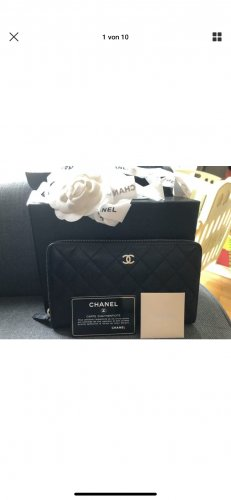 Chanel Cartera negro-color oro