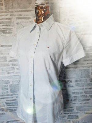 Gant Blusa con collo alla coreana bianco-blu