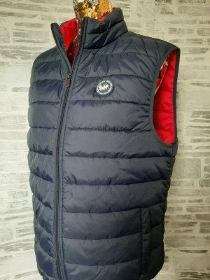 Harveys Quilted Gilet red-blue