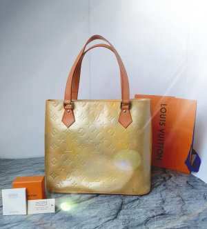 Orginal Louis Vuitton Lackleder Tasche Houston Vernise, monogramm,goldgelb, Hochwertig!