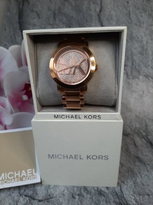"Orginal Michael Kors Armbanduhr,  rose'gold, ""signature"" Design, Strass, Hochwertig!"
