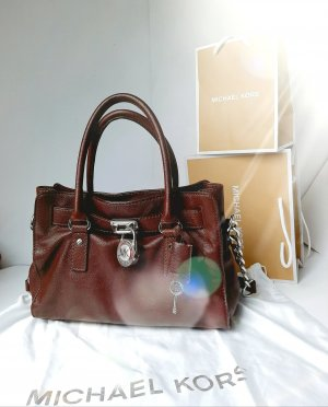 Orginal Michael Kors Hamilton, Gr M, Chocolate/gold,Leder, & Staubbeutel! TOP!