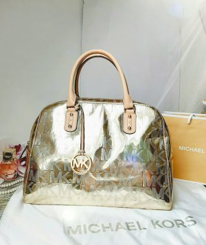 Orginal Michael Kors Handtasche, Logo Design, Lackleder, gold, extravagant, Top!