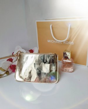 Orginal Michael Kors mini Pochette, gold & Logo Design,Neuwertig!