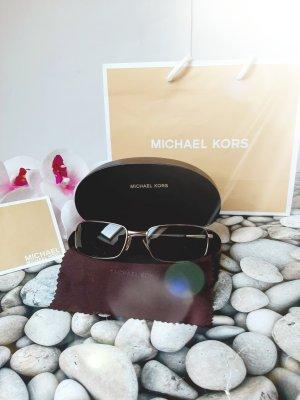 Michael Kors Gafas de sol ovaladas color oro-marrón