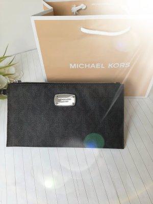 Orginal Michael Kors Tasche/ Pochette, schwarz/ silber, Logo Design, Hochwertig!