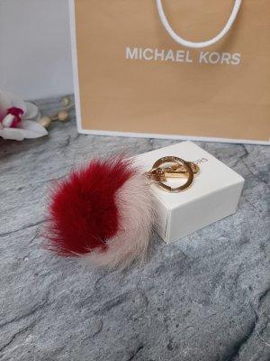 Orginal Michael Kors Taschen/Schlüsselanhänger, Gold/creme/rot,Neuwertig!