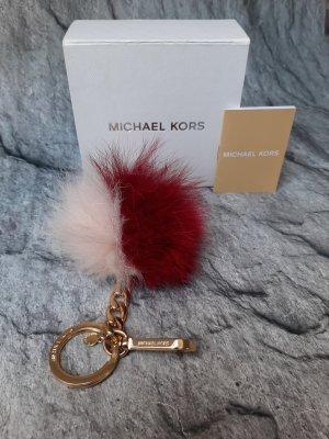 Orginal  Michael Kors Taschen/ Schlüsselanhänger, rosa/ weinrot/gold, Neuwertig!