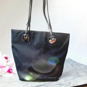 Orginal Orginal Gucci Tasche,Guccissmia shopper, schw.canvas/ Leder, Top!