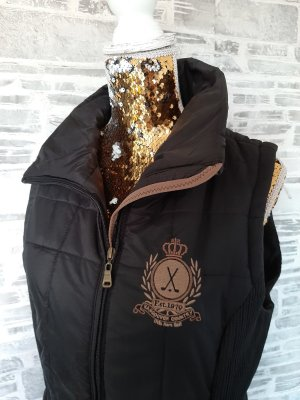 Otto Kern Quilted Gilet black-light brown