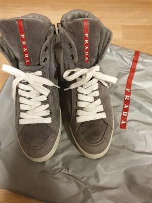 Prada Wedge Sneaker grey