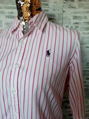 Ralph Lauren Stand-Up Collar Blouse white-pink cotton