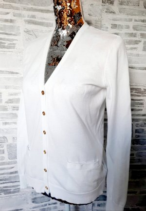 Ralph Lauren Cárdigan de punto blanco-color oro Algodón