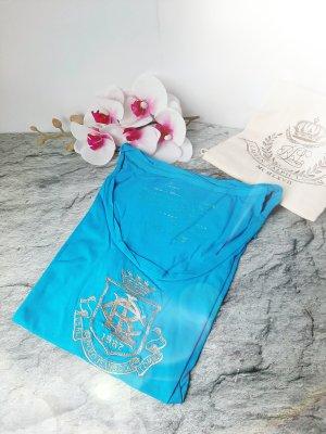 Orginal Ralph Lauren Shirt, türkis/silber,Stickerei,Gr L, Hochwertig!
