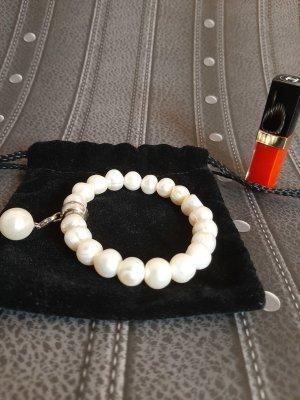 Thomas Sabo Bracciale di perle argento-crema
