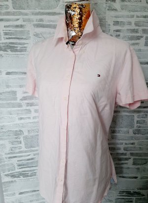 Tommy Hilfiger Stand-Up Collar Blouse pink-light pink cotton