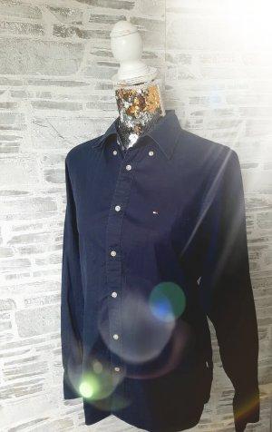 Orginal Tommy Hilfiger Bluse, gr M, blau, Neuwertig!