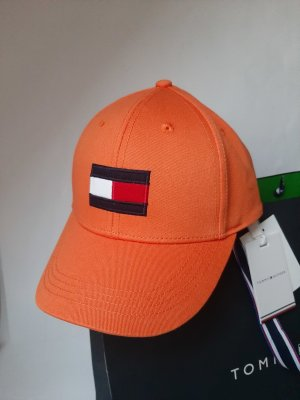 Orginal Tommy Hilfiger Cappy, Big Flag, Orange, Ge L, Umfang 53- 57,5 cm, Neu & Etikett!