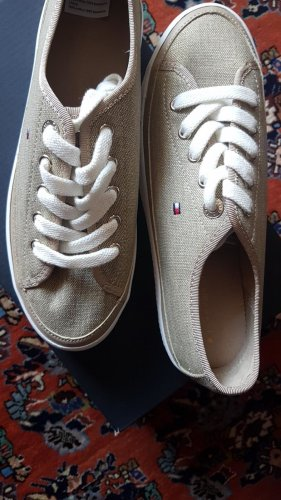 ORGINAL  Tommy Hilfiger Flat Form Sneaker in beige Gold  38 Neu!!!