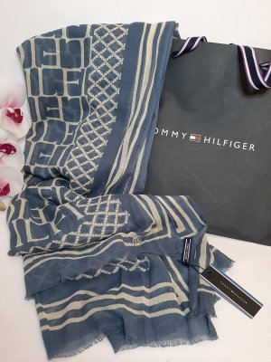 Orginal Tommy Hilfiger Schal, blau/creme, Hochwertig!