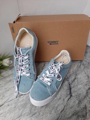 Orginal Tommy Hilfiger Sneaker,Gr.39, blau, Creppsohle, Top!