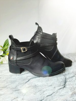U.s. polo assn. Slip-on Booties black-gold-colored leather
