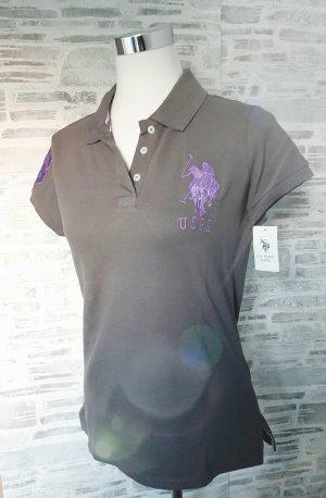 Orginal U.S.Polo assn. Shirt, grau/ flieder, Gr.XL, Hochwertig!