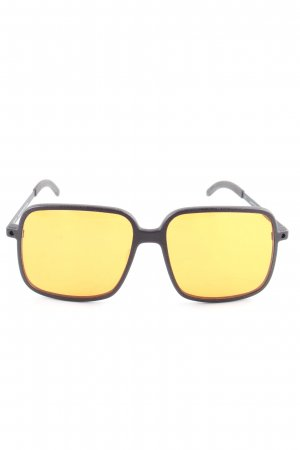 Orgreen eckige Sonnenbrille braun-blassgelb Casual-Look