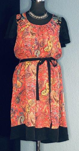 Oriental Paisley Monsoon Chiffon Kleid