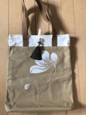 Orientalische Handtasche/shopper aus Leinen NEU
