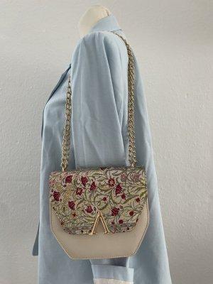 Orientalische Tasche grau Gold Umhängetasche