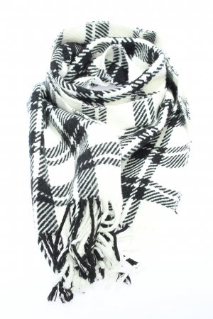 oriflame Fringed Scarf white-black allover print casual look