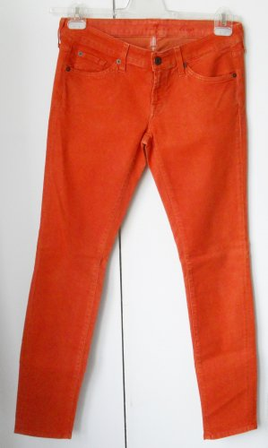 7 For All Mankind Tube Jeans orange mixture fibre