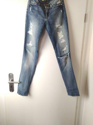 7 For All Mankind Dopasowane jeansy jasnoniebieski Bawełna