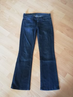 orig 7 Seven for all Mankind Jeans Bootcut W 25 wie neu dunkelblau