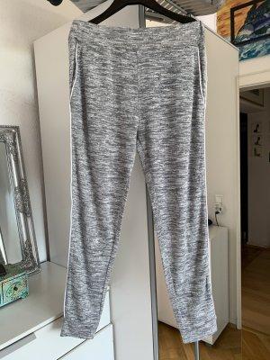 81hours Pantalon de jogging gris clair-blanc