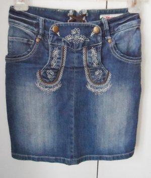 Alphorn Jupe en jeans bleu coton