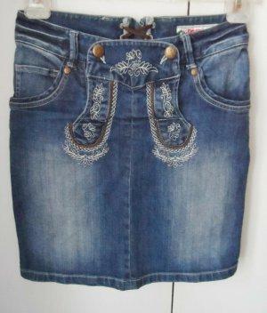 orig. Alphorn Trachten Jeans Mini Rock Gr. 34 nur wenig getragen
