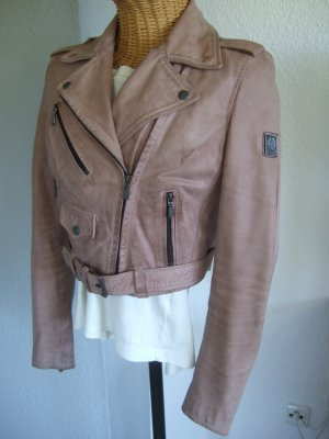 Belstaff Veste en cuir vieux rose-rosé cuir