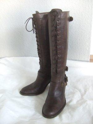 Belstaff Bottes à talon brun noir-brun cuir