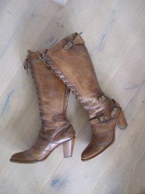 Belstaff Heel Boots brown-cognac-coloured leather