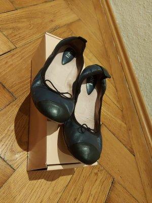 Bloch Ballerina pieghevole blu scuro-nero Pelle