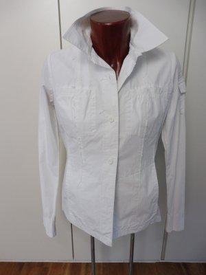 Orig. Bogner, lässige/sportliche Bluse, Gr. 38, Weiß, die auch als Jacke getragen werden kann