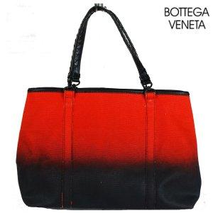 Bottega Veneta Torba shopper czarny-pomarańczowy neonowy Len