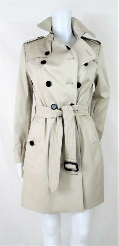 "Orig. Burberry ""Queensbury'""Trenchcoat/Slim Fit/Steingrau/Gr.10 UK/38 EU/Baumwolle-Elasthan/WIE NEU!"