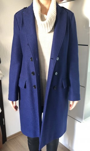 Burberry Wool Coat blue-dark blue wool