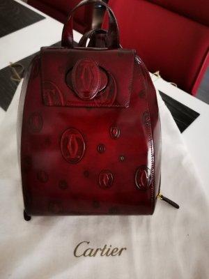 Cartier Shoulder Bag bordeaux-brown red leather