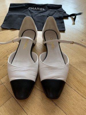 Chanel Décolleté modello chanel bianco-nero Pelle