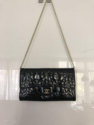 Orig. Chanel Wallet on Chain schwarz Lackleder