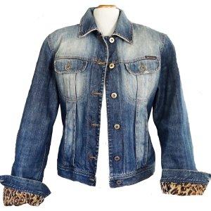 Orig. D&G Dolce & Gabbana Denim Jacket Jeansjacke M Damen Tiger Innenfutter TOP